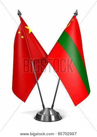 China and Transnistria - Miniature Flags.