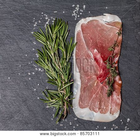 Delicious Ham Slices With Rosemary And Salt