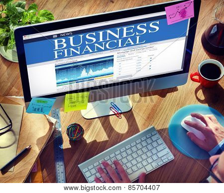 Digital Business Financial News Concept
