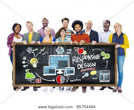 Responsive Design Internet Web Online Students Education Concept