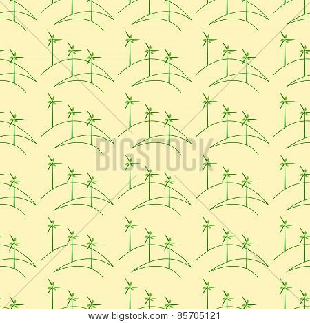 Pattern With Windmills