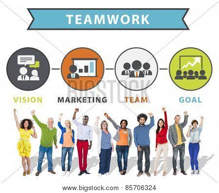 People Celebration Success Connection Teamwork Concept