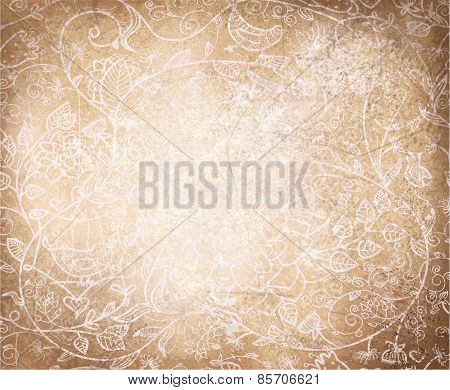 Vector floral pattern background.