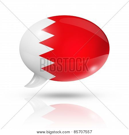Bahrain Flag Speech Bubble