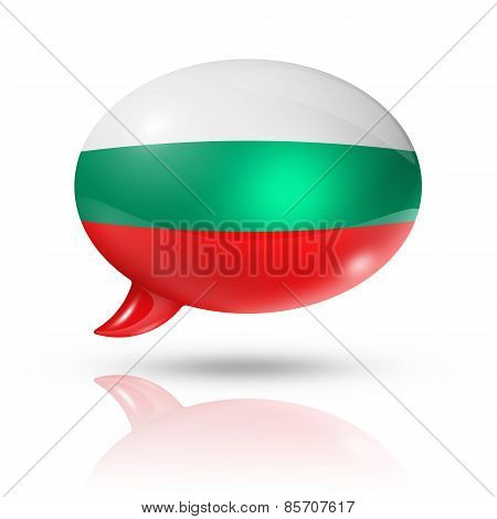 Bulgarian Flag Speech Bubble