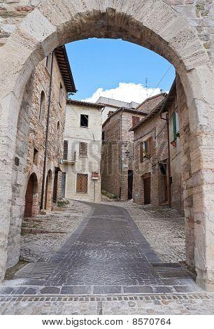 Federico II Gate. Montefalco. Umbria.
