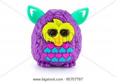 Purple Furby From Furby Boom Collection. There Are Plastic Toy Sold As Part Of The Mcdonald's Happy