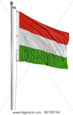 3D Hungarian flag