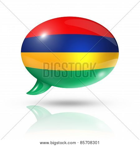 Mauritius Flag Speech Bubble
