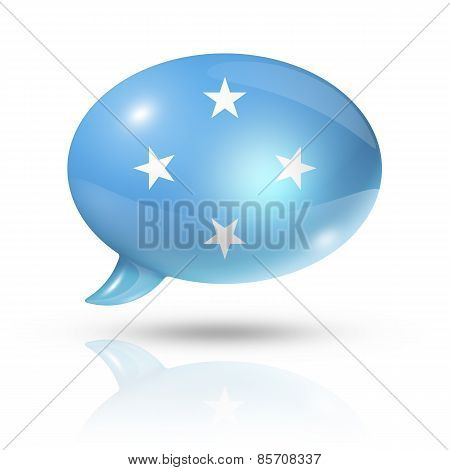 Micronesian Flag Speech Bubble