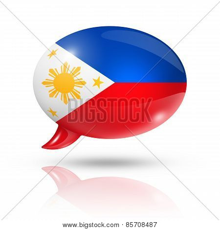 Philippines Flag Speech Bubble