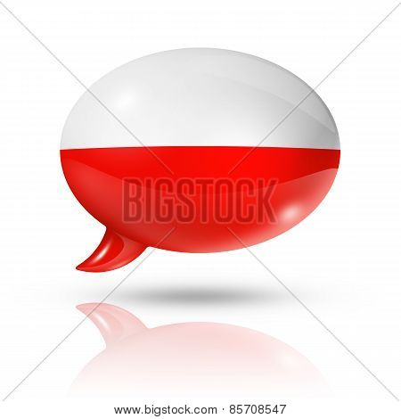 Polish Flag Speech Bubble