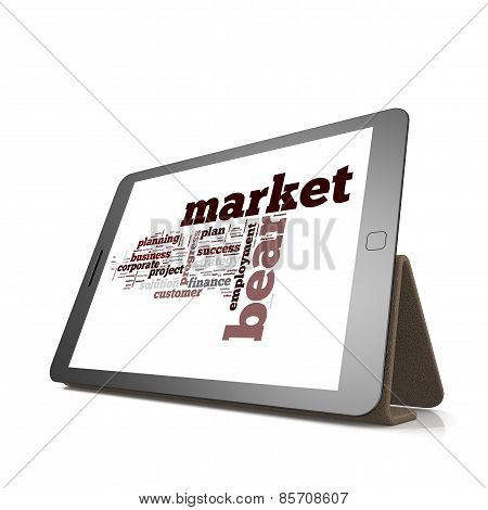 Bear Market Word Cloud On Tablet