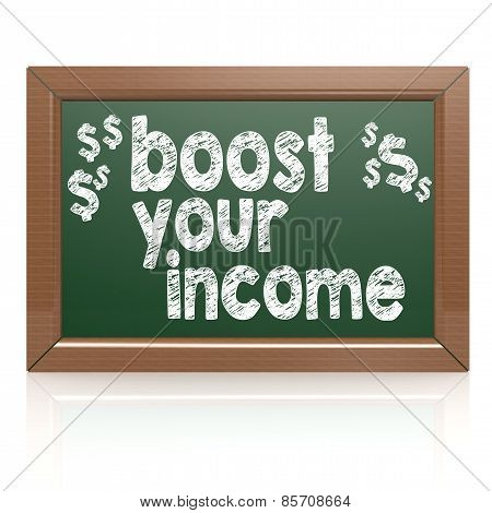 Boost Your Income On A Chalkboard