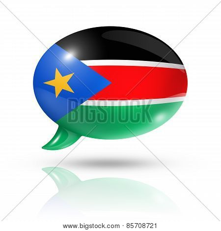 South Sudan Flag Speech Bubble