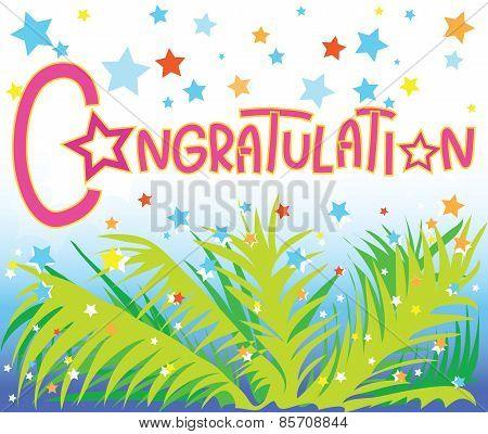 Congratulation Star Coconut Leave