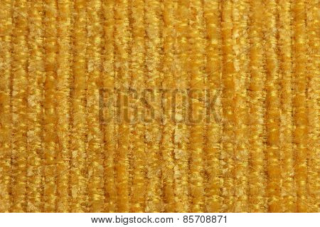 Texture Of Yellow Cloth Photographed Close Up