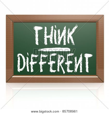 Think Different Written With Chalk On Blackboard