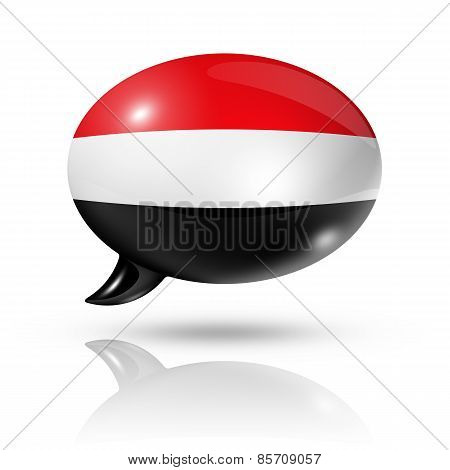 Yemen Flag Speech Bubble