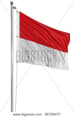 3D flag of Monaco