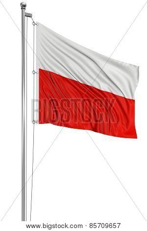 3D Polish flag