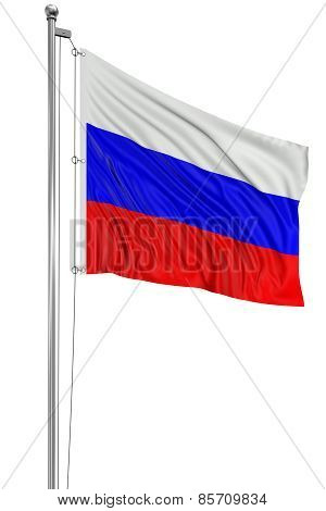 3D Russian flag (clipping path included)