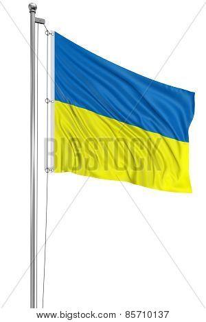 3D Ukrainian flag