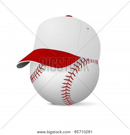 Baseball Cap On Baseball