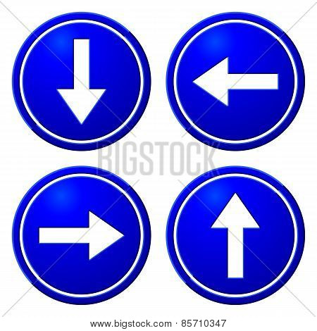 Directional Arrows Blue Signs