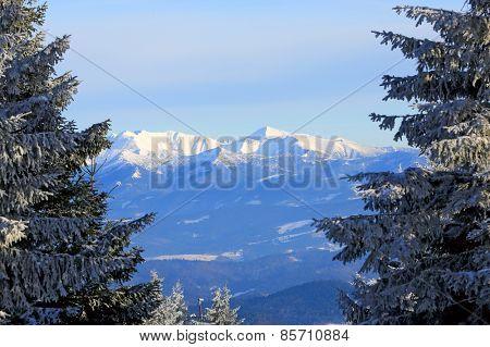 Nice winter scene in Tatra Mountains, Slovakia