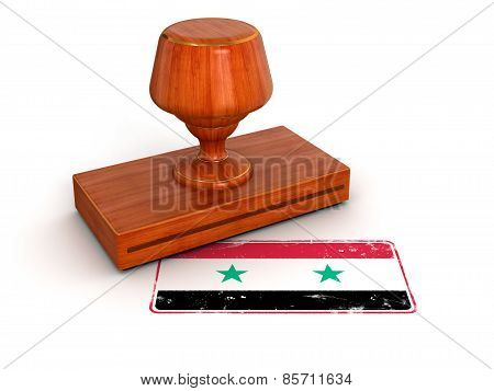 Rubber Stamp Syrian flag (clipping path included)
