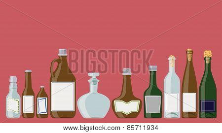 Bottles Set: Alcoholic Beverages