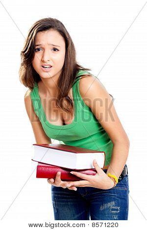 Worried Teenager Student