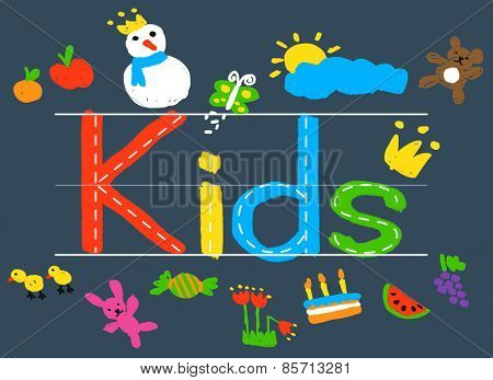 KIds Imagination Handwriting Create Drawing Concept