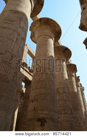 columns of the Temple of Karnak in Egypt