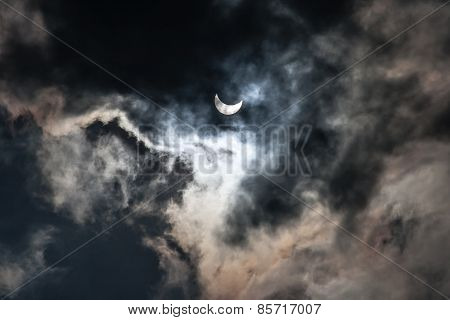 Solar Eclipse 59 percent as seen in Lviv Ukraine