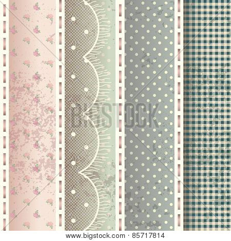 Pattern in shabby chic style.