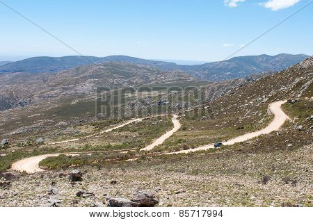 Hairpin Bends In The Historic Swartberg (black Mountain) Pass.