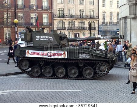 Tank Protest at BBC Broadcasting House