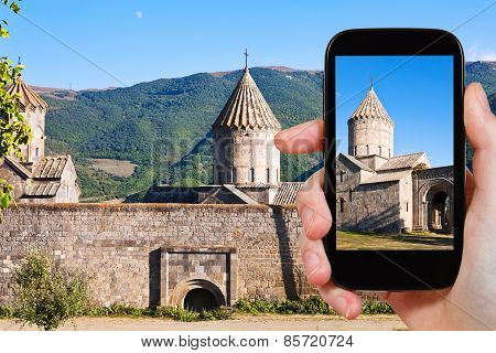 Tourist Photographs Of Tatev Monastery In Armenia