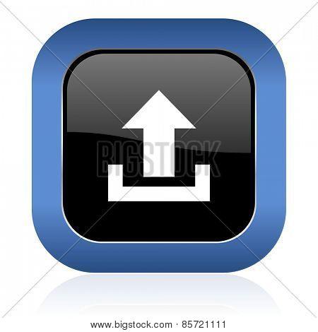 upload square glossy icon