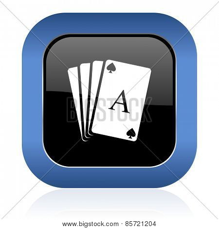 casino square glossy icon hazard sign