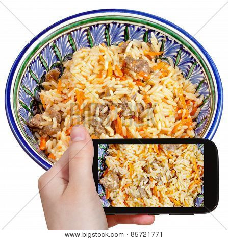 Tourist Photographs Of Traditional Pilau With Meat
