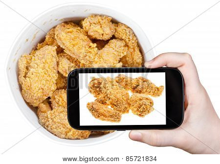 Tourist Photographs Of Hot Fried Chicken Wings