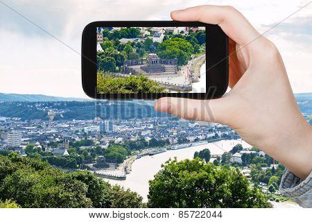 Tourist Photographs Of German Corner In Koblenz