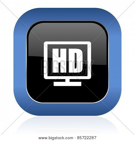 hd display square glossy icon