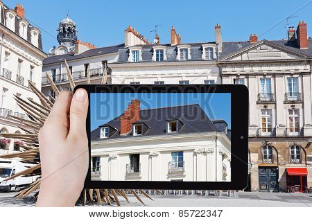Tourist Photographs Of Urban House In Nantes City