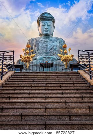 Hyogo Daibutsu - The Great Buddha at Nofukuji Temple in Kobe Japan