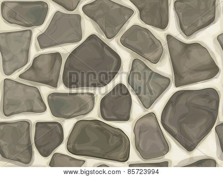 Vector seamless texture of stonewall.