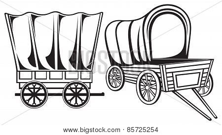 Vintage wagon to transport